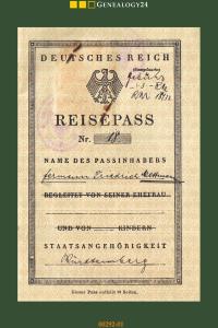 reisepass 1932 württemberg
