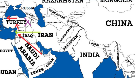 map-of-iran-syria-and-qatar-turkey-pipelines