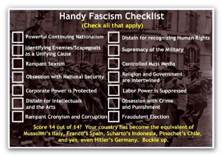 fascism checklist
